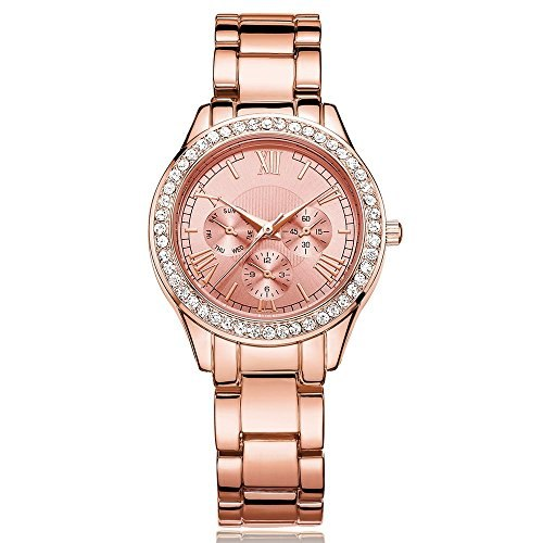 DWG Ladies Watch Crystal roman numeral battery replaceable Japan quartz Italy designer luxury pink gold