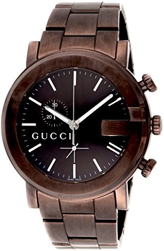 Gucci GUCCI Watch G chrono Brown dial Stainless steel (BRPVD) ya101341 Mens