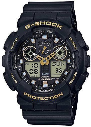 CASIO (casio) watch G-shock (G-shock) Black gold ga-100gbx-1a9 Men's overseas models