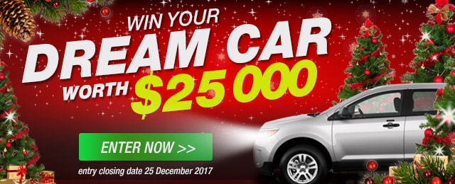 WIN YOUR DREAM CAR WORTH $25000
